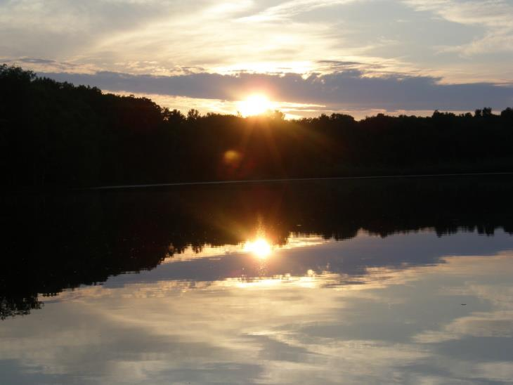 Last rays of the sun