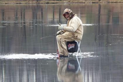 Joe Rings Ice Fishing on Lyons Lake