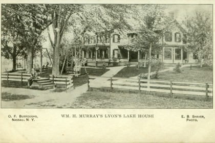 Historical Lyons Lake Postcard View of Wm. H. Murray's Boarding House (now apartments) Not Dated