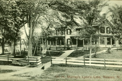Historical Lyons Lake Postcard View of Wm. H. Murray's Boarding House (now apartments) Not Dated, but mailed using a 1 cent stamp